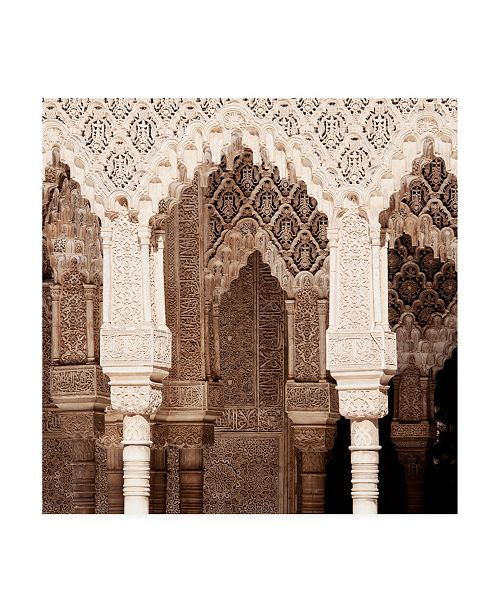 """Trademark Global Philippe Hugonnard Made in Spain 3 Arabic Arches in Alhambra II Canvas Art - 15.5"""" x 21"""""""