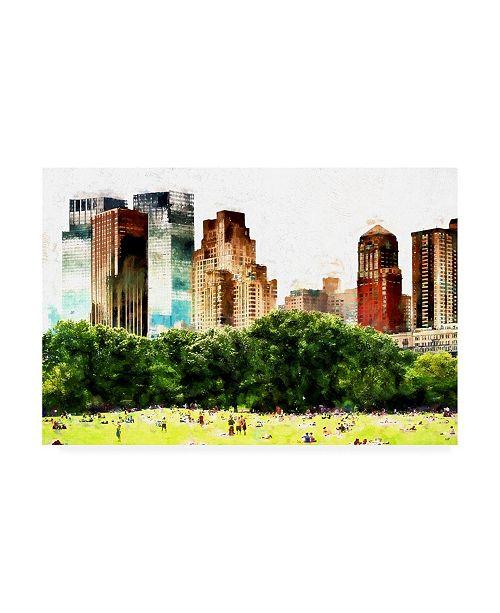 "Trademark Global Philippe Hugonnard Summer in New York II Canvas Art - 19.5"" x 26"""