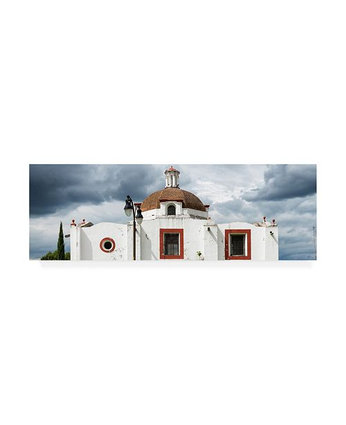 "Trademark Global Philippe Hugonnard Viva Mexico 2 Mexican Church Canvas Art - 27"" x 33.5"""