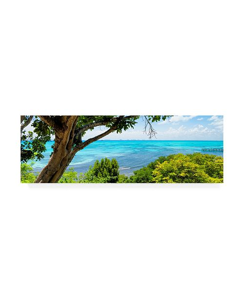 "Trademark Global Philippe Hugonnard Viva Mexico 2 Isla Mujeres Coastline III Canvas Art - 27"" x 33.5"""