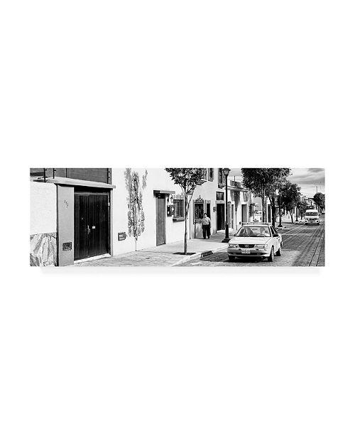 "Trademark Global Philippe Hugonnard Viva Mexico 2 Oaxaca City B&W Canvas Art - 27"" x 33.5"""