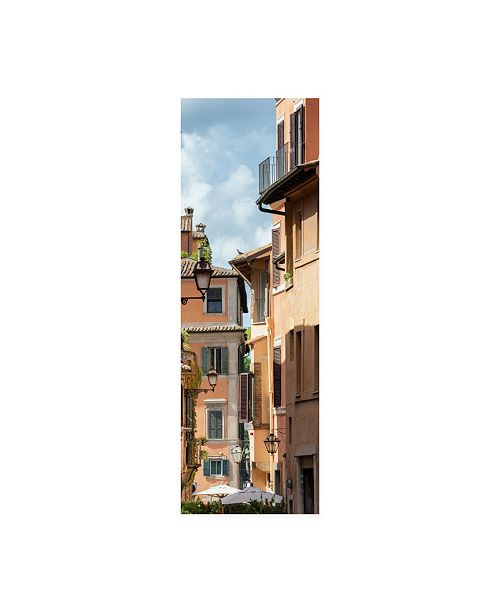 "Trademark Global Philippe Hugonnard Dolce Vita Rome 2 Buildings Facade Canvas Art - 36.5"" x 48"""