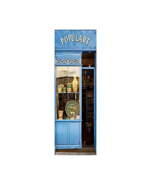 """Trademark Global Philippe Hugonnard Made in Spain 2 Old Blue Shop Front Canvas Art - 15.5"""" x 21"""""""