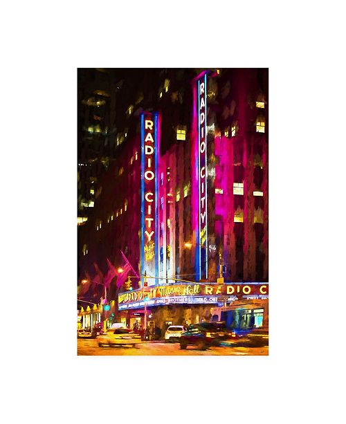 "Trademark Global Philippe Hugonnard Radio City Music Hall Photograph Canvas Art - 15.5"" x 21"""