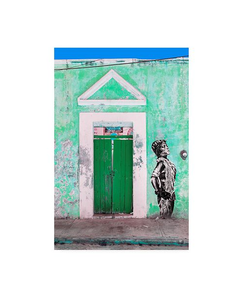 "Trademark Global Philippe Hugonnard Viva Mexico Main entrance Door Closed VI Canvas Art - 27"" x 33.5"""