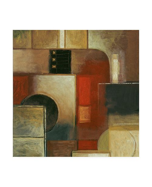 "Trademark Global Pablo Esteban Pipe Abstract Canvas Art - 36.5"" x 48"""