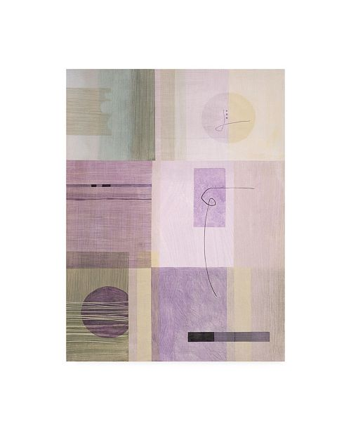 """Trademark Global Pablo Esteban Abstract with String Canvas Art - 36.5"""" x 48"""""""