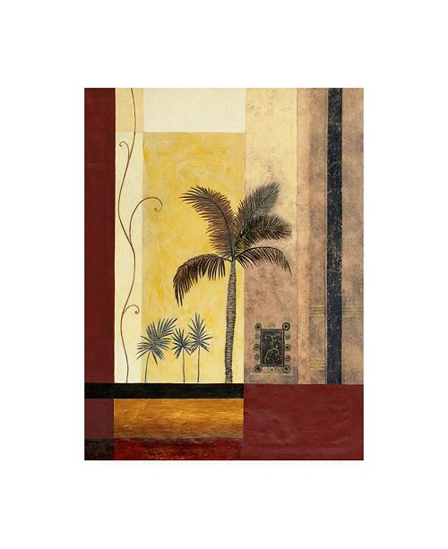 """Trademark Global Pablo Esteban Palm Trees with Rectangles Canvas Art - 19.5"""" x 26"""""""