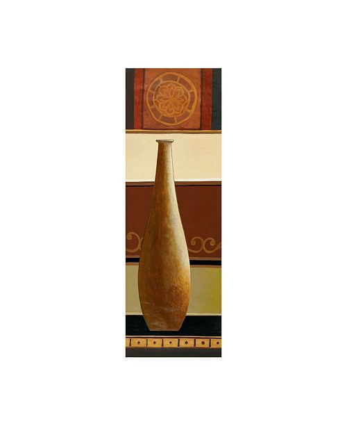 "Trademark Global Pablo Esteban Thick Bottomed Vase and Stripes Canvas Art - 19.5"" x 26"""