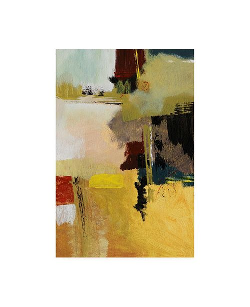 "Trademark Global Pablo Esteban Green Black Yellow Abstract Canvas Art - 27"" x 33.5"""