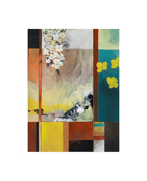 """Trademark Global Pablo Esteban Yellow and White Floral Abstract Canvas Art - 27"""" x 33.5"""""""