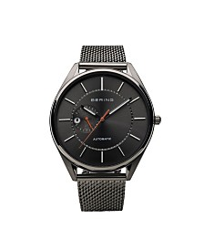 Bering Men's Automatic Multifunction Stainless Steel Mesh Watch