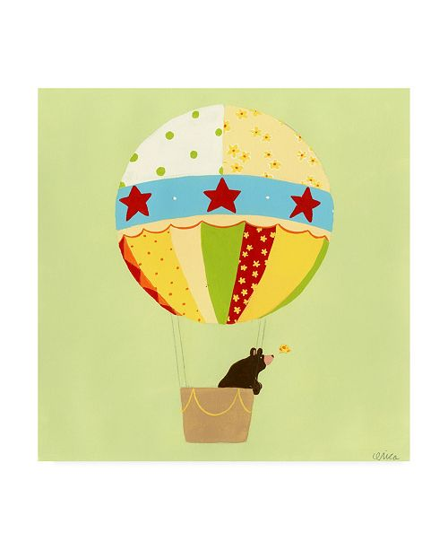 """Trademark Global June Erica Vess Up, Up and Away I Childrens Art Canvas Art - 19.5"""" x 26"""""""