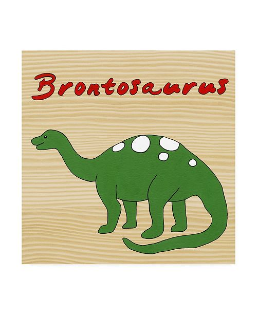"Trademark Global Megan Meagher Brontosaurus Childrens Art Canvas Art - 15.5"" x 21"""