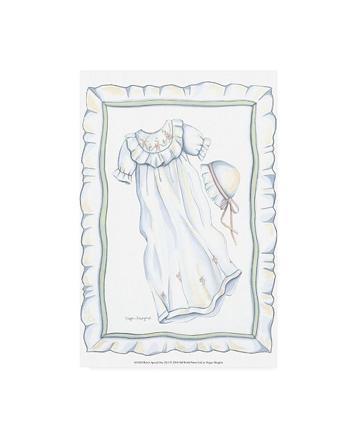 """Trademark Global Megan Meagher Babys Special Day I Childrens Art Canvas Art - 36.5"""" x 48"""""""