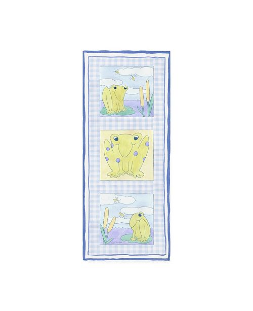 "Trademark Global Megan Meagher Frog Trio Childrens Art Canvas Art - 19.5"" x 26"""