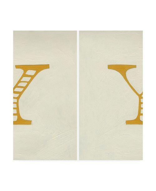 "Trademark Global Chariklia Zarris Luciens Y 6 Up Canvas Art - 15.5"" x 21"""