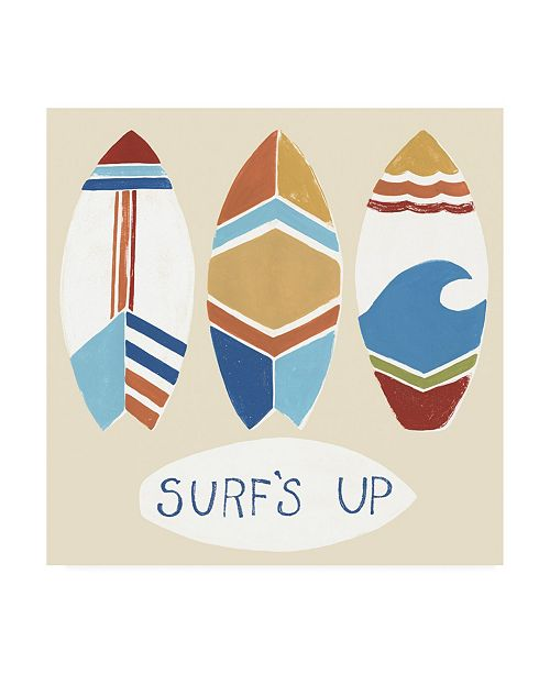 "Trademark Global June Erica Vess Surfs Up I Canvas Art - 19.5"" x 26"""