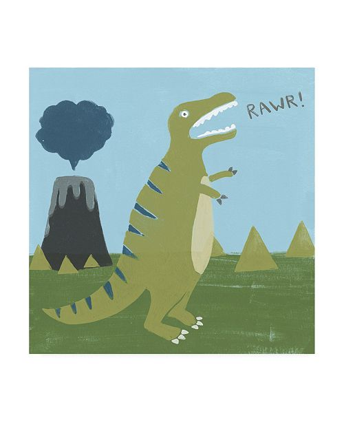 "Trademark Global June Erica Vess Dino mite I Canvas Art - 36.5"" x 48"""