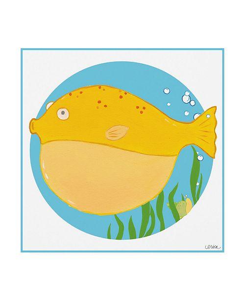"Trademark Global June Erica Vess Billy the Blowfish Canvas Art - 19.5"" x 26"""