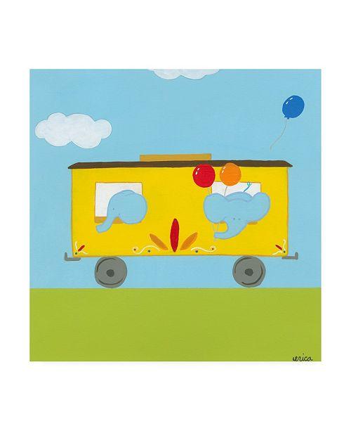 "Trademark Global June Erica Vess Circus Train III Canvas Art - 19.5"" x 26"""