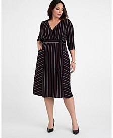 Women's Plus Size Harmony Faux Wrap Dress
