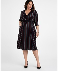 Kiyonna Women's Plus Size Harmony Faux Wrap Dress
