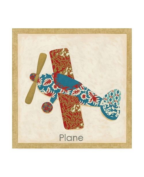 "Trademark Global Chariklia Zarris Patchwork Transportation III Canvas Art - 15.5"" x 21"""