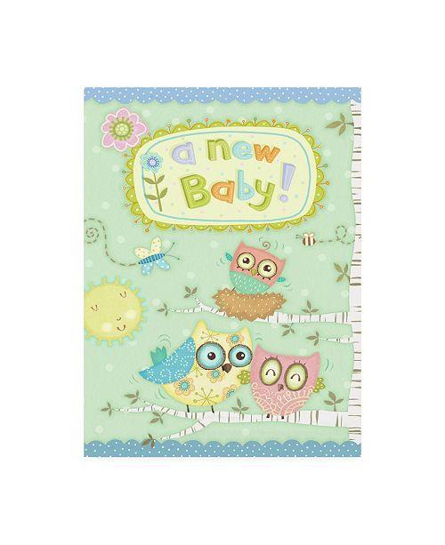 "Trademark Global Viv Eisner Baby Owl II Canvas Art - 36.5"" x 48"""