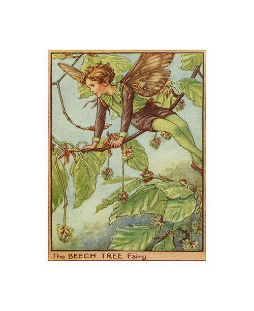 "Trademark Global Vision Studio The Beech Tree Fairy Canvas Art - 19.5"" x 26"""