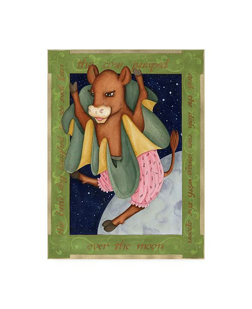 "Trademark Global Tara Friel Over the Moon Canvas Art - 19.5"" x 26"""