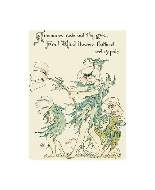 "Trademark Global Walter Crane Shakespeares Garden I (Anemone) Canvas Art - 36.5"" x 48"""