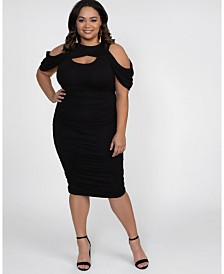 Kiyonna Women's Plus Size Bianca Ruched Dress
