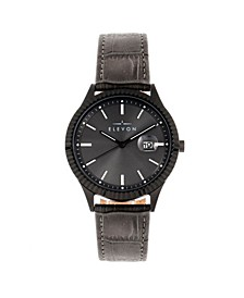 Men's Concorde Genuine Leather Strap Watch 41mm