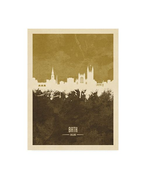 "Trademark Global Michael Tompsett Bath England Skyline Cityscape Brown Canvas Art - 36.5"" x 48"""