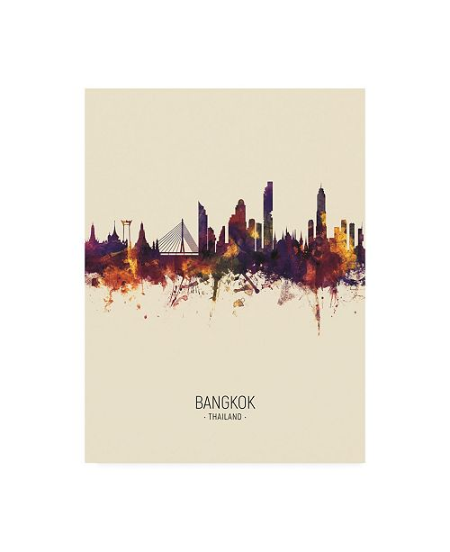 "Trademark Global Michael Tompsett Bangkok Thailand Skyline Portrait III Canvas Art - 27"" x 33.5"""