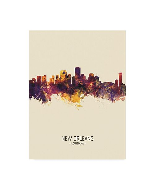 "Trademark Global Michael Tompsett New Orleans Louisiana Skyline Portrait III Canvas Art - 27"" x 33.5"""