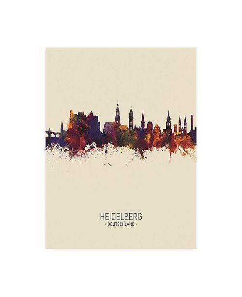 "Trademark Global Michael Tompsett Heidelberg Germany Skyline Portrait III Canvas Art - 27"" x 33.5"""