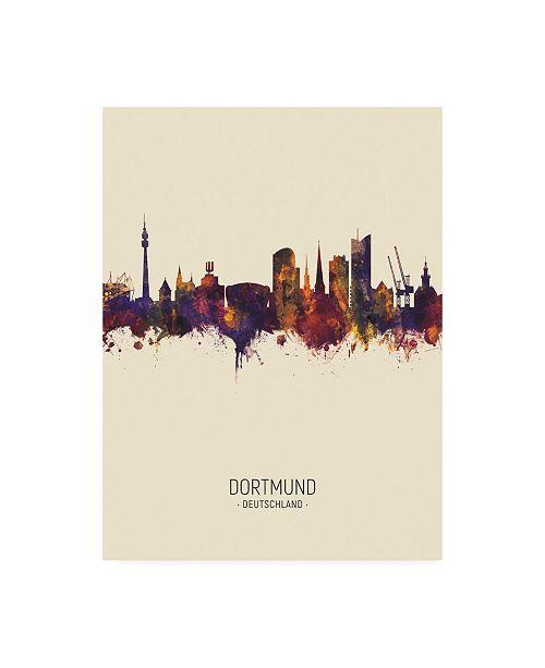 "Trademark Global Michael Tompsett Dortmund Germany Skyline Portrait III Canvas Art - 36.5"" x 48"""