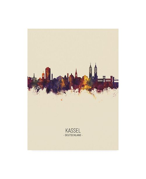 "Trademark Global Michael Tompsett Kassel Germany Skyline Portrait III Canvas Art - 27"" x 33.5"""