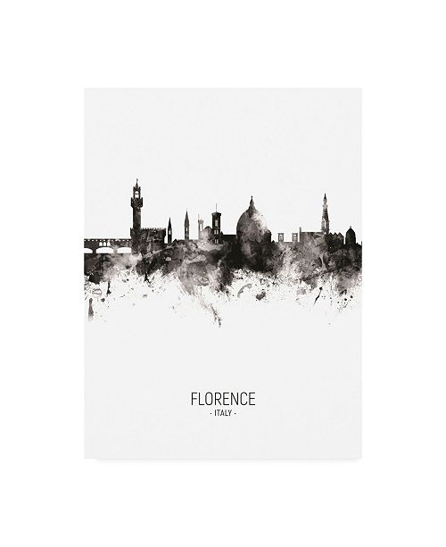 "Trademark Global Michael Tompsett Florence Italy Skyline Portrait II Canvas Art - 19.5"" x 26"""
