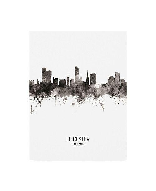 "Trademark Global Michael Tompsett Leicester England Skyline Portrait II Canvas Art - 36.5"" x 48"""