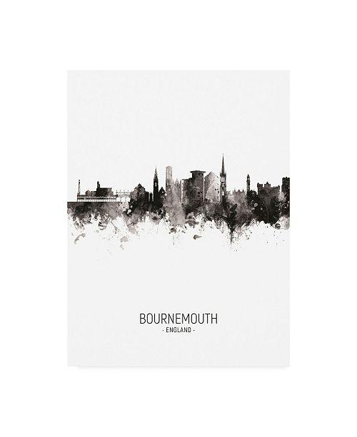 "Trademark Global Michael Tompsett Bournemouth England Skyline Portrait II Canvas Art - 15.5"" x 21"""