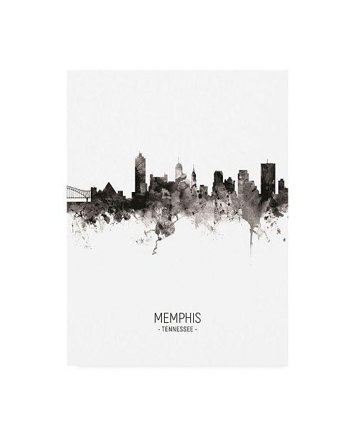 "Trademark Global Michael Tompsett Memphis Tennessee Skyline Portrait II Canvas Art - 19.5"" x 26"""