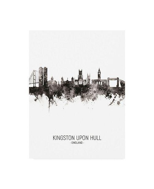 "Trademark Global Michael Tompsett Kingston upon Hull England Skyline Portrait II Canvas Art - 19.5"" x 26"""
