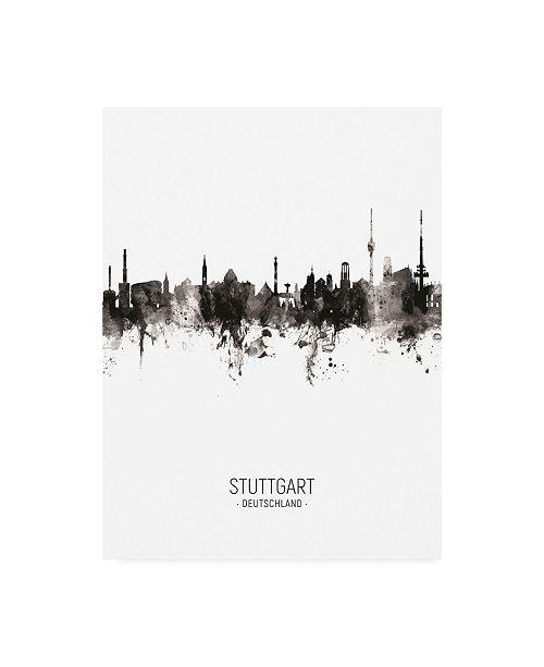 "Trademark Global Michael Tompsett Stuttgart Germany Skyline Portrait II Canvas Art - 36.5"" x 48"""
