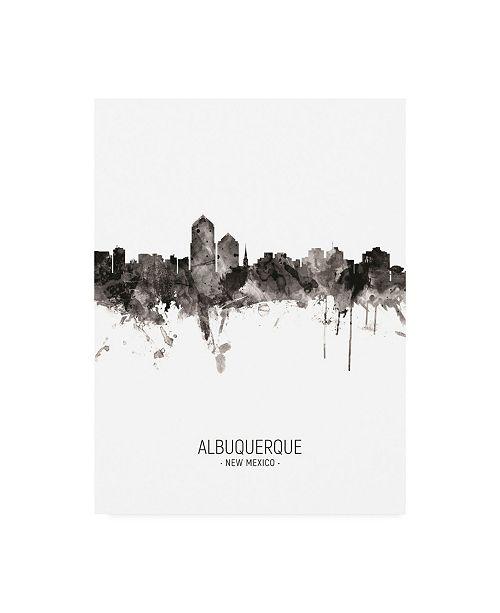 "Trademark Global Michael Tompsett Albuquerque New Mexico Skyline Portrait II Canvas Art - 15.5"" x 21"""