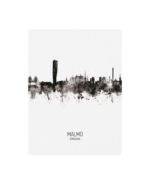 "Trademark Global Michael Tompsett Malmo Sweden Skyline Portrait II Canvas Art - 15.5"" x 21"""