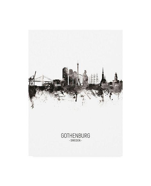"Trademark Global Michael Tompsett Gothenburg Sweden Skyline Portrait II Canvas Art - 19.5"" x 26"""