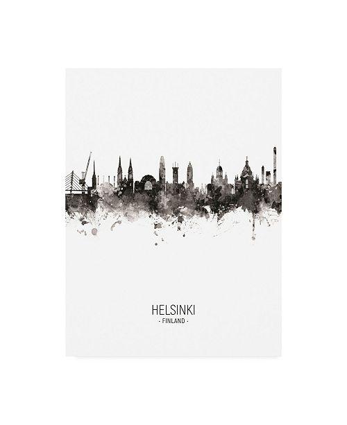 "Trademark Global Michael Tompsett Helsinki Finland Skyline Portrait II Canvas Art - 27"" x 33.5"""
